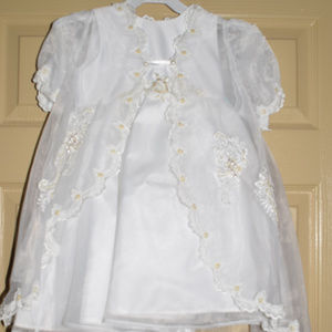 NWT - White Lace/Sequence/Pearl Embroidered Dress